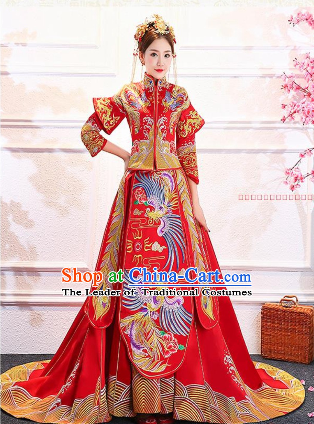 Embroidered Bride Chinese Traditional Wedding Dresses Ceremonial Clothing China Wedding Dress for Women