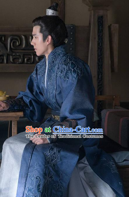 Nirvana in Fire Chinese Ancient Northern and Southern Dynasties Nobility Childe Xiao Pingjing Embroidered Replica Costume for Men