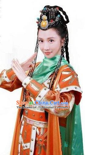 Chinese Ancient Tang Dynasty Princess Tulu Embroidered Replica Costume for Women