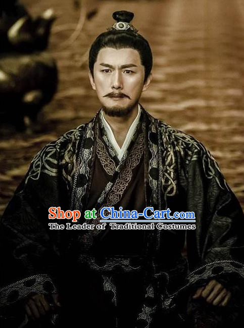 Chinese Ancient Tang Dynasty Chancellor Shi Siming Replica Costume for Men