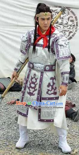 Chinese Ancient Tang Dynasty General Marshal Luo Tong Replica Costume for Men