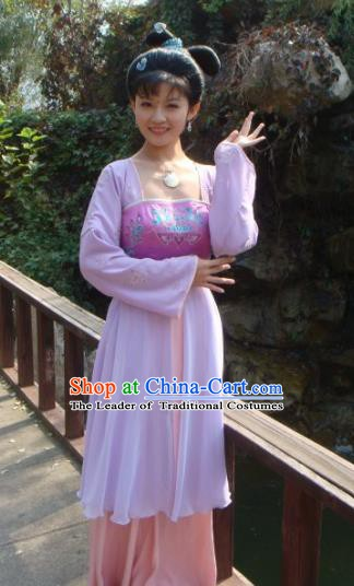 Chinese Ancient Tang Dynasty Palace Princess Yuzhen Hanfu Dress Embroidered Replica Costume for Women