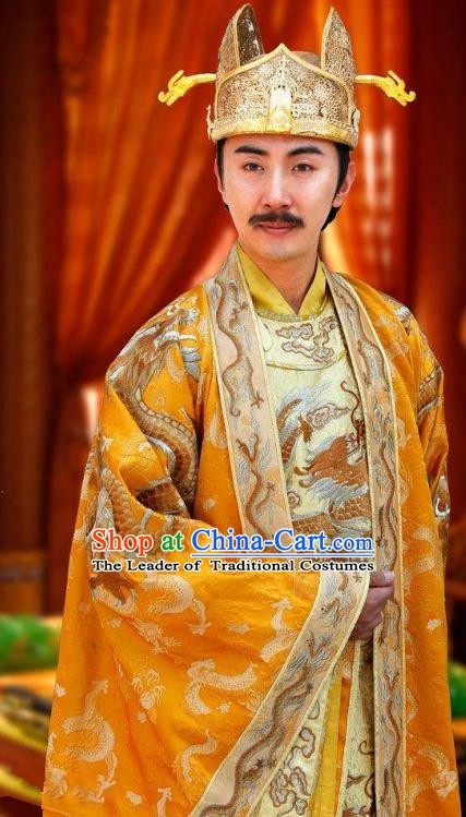Chinese Ancient Imperial Robe Emperor Gaozong of Tang Dynasty Li Zhi Replica Costume for Men