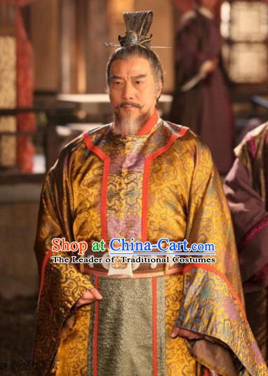 Chinese Ancient Tang Dynasty Prime Minister Duan Tao Embroidered Replica Costume for Men