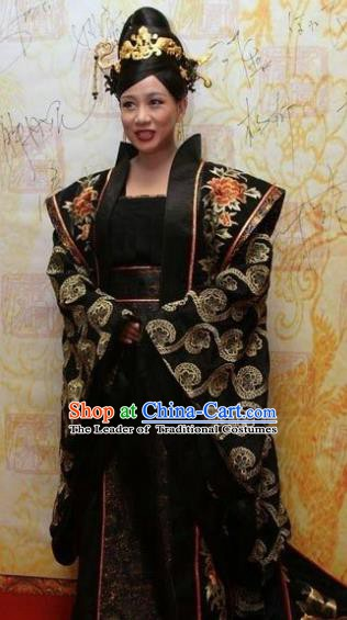Traditional Chinese Ancient Tang Dynasty Queen Mother Embroidered Dress Replica Costume for Women