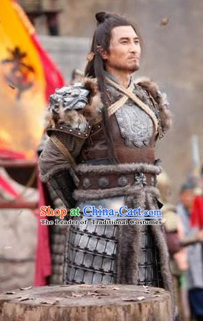 Chinese Ancient Tang Dynasty Swordsman General Shan Xiongxin Replica Costume for Men