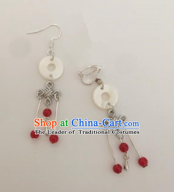 Traditional Chinese Ancient Jewelry Accessories Jade Earrings for Women