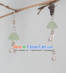 Traditional Chinese Ancient Jewelry Accessories Pearls Tassel Earrings for Women