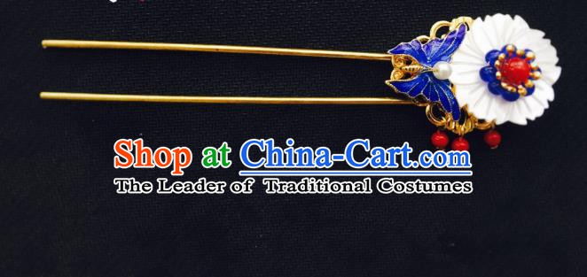 Traditional Chinese Ancient Hair Accessories Hair Clip Hanfu Shell Hairpins for Women