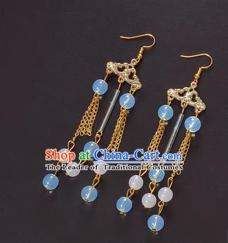 Handmade Bride Wedding Ear Accessories Hanfu Tassel Earrings for Women