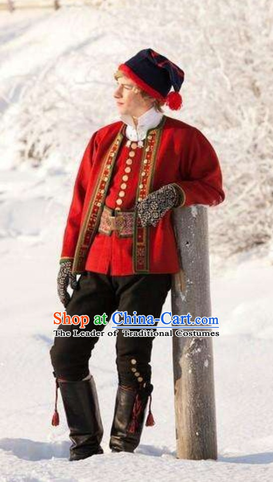 Norway National Costume and Hat Complete Set for Men