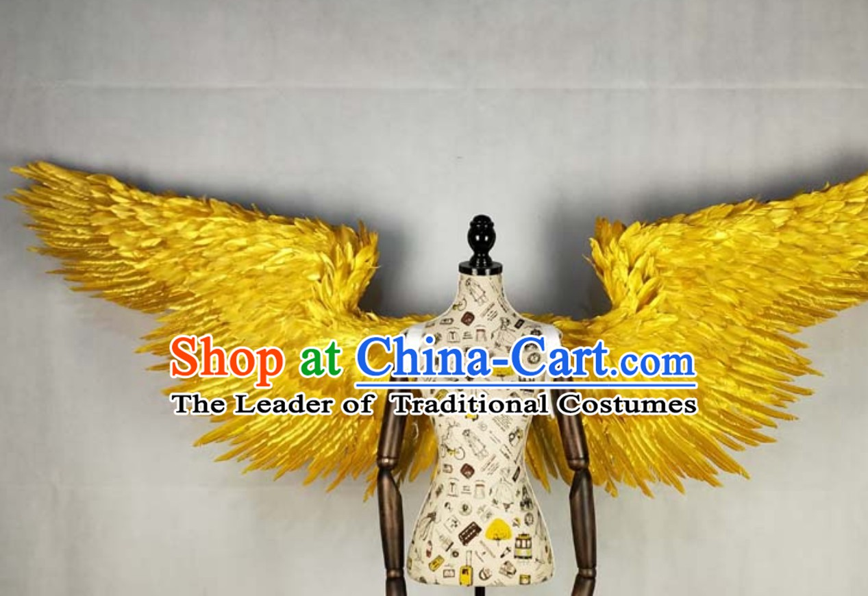 Golden Color Professional Stage Performance Giant Angel Wings