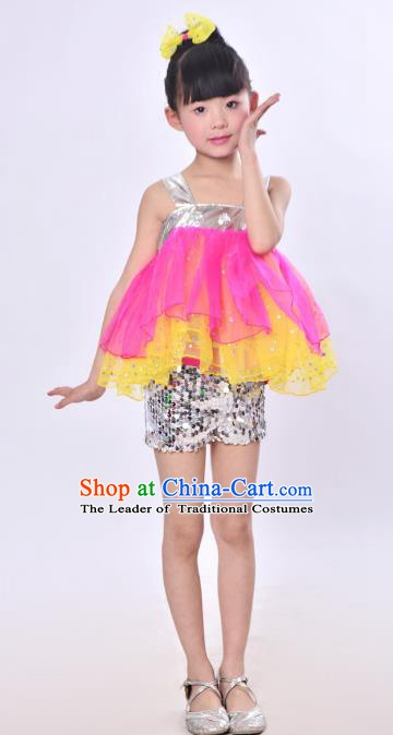 Traditional Chinese Modern Dance Costume Opening Dance Uniforms for Kids