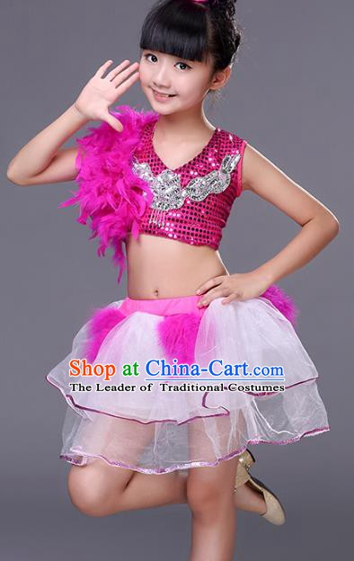 Traditional Chinese Modern Dance Costume Opening Dance Jazz Dance Uniforms for Kids