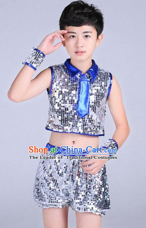 Children Modern Dance Jazziness Costume, Chorus Singing Group Jazz Dance Clothing for Kids