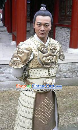 Traditional Chinese Ancient Tang Dynasty General Xue Rengui Replica Costume for Men