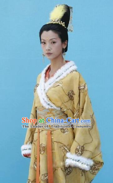 Traditional Chinese Ancient Queen Mother Costume, Northern Wei Dynasty Empress Dowager Feng Replica Costume for Women