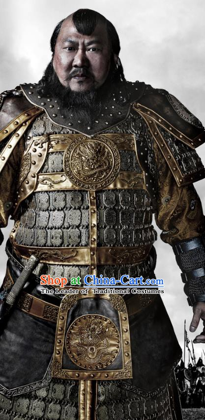 Chinese Ancient Yuan Dynasty Emperor Kublai Khan Replica Costume for Men