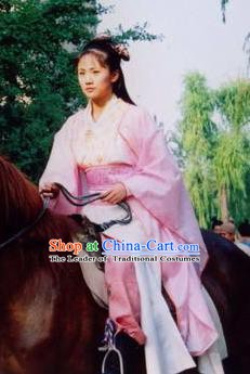 Traditional Ancient Chinese Han Dynasty Princess Hanfu Dress Replica Costume for Women