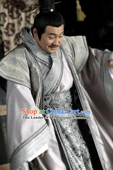 Chinese Ancient Han Dynasty Feudatory King Liu Zhang Replica Costume for Men