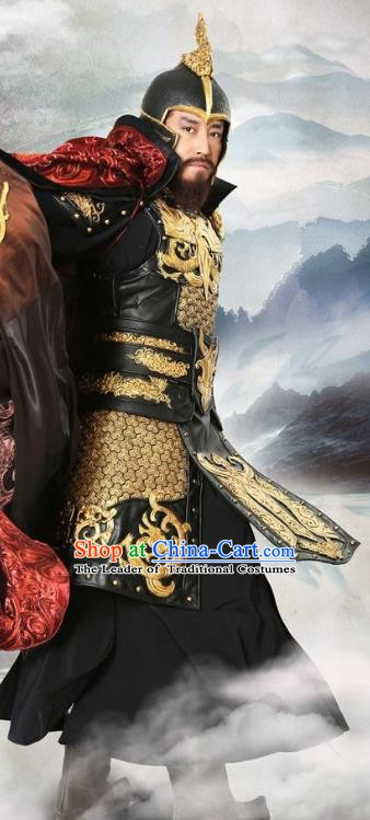 Chinese Ancient Three Kingdoms Period Wei Kingdom Emperor Cao Cao Replica Costume for Men