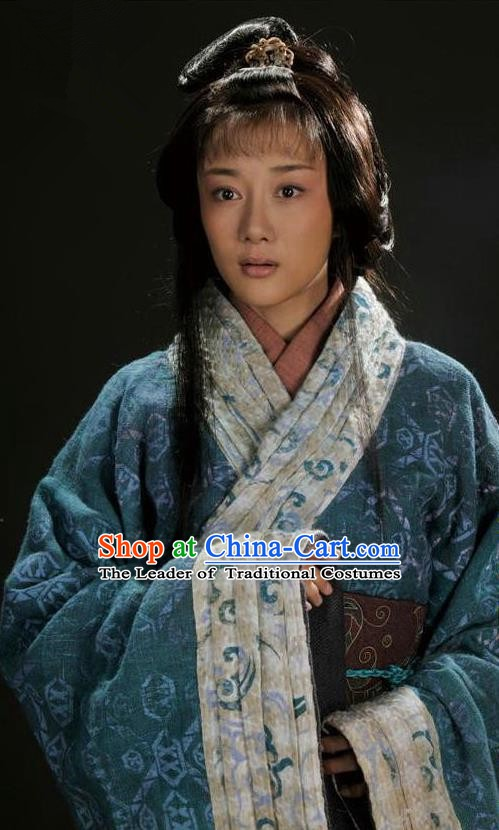 Chinese Ancient Three Kingdoms Period Palace Lady Hanfu Dress Replica Costume for Women