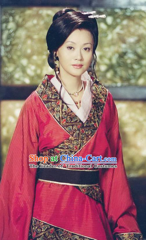 Chinese Ancient Qin Dynasty Imperial Consort Zhao Hanfu Dress Replica Costume for Women