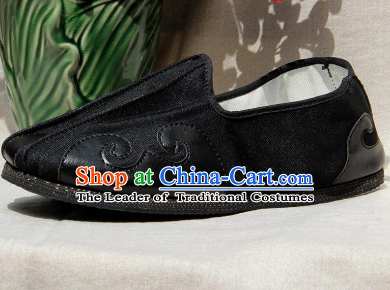 Chinese Traditional Handmade Embroidery Cloth Shoes Martial Arts Shoes Kung Fu Shoes for Men
