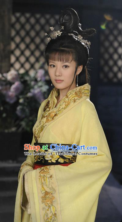 Traditional Chinese Warring States Period Xi Shi Hanfu Dress Embroidered Replica Costume for Women