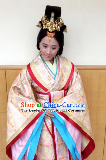 Traditional Chinese Ancient Qin Kingdom Imperial Concubine Jing Embroidered Replica Costume for Women