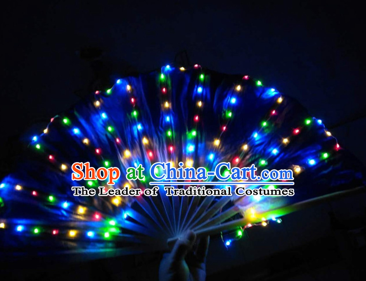 Professional Stage Performance LED Fans Pure Silk Hands Props