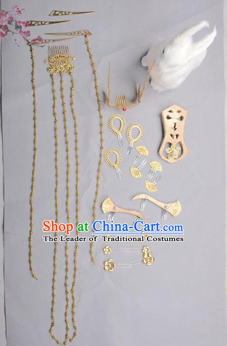 Traditional Handmade Chinese Ancient Classical Hair Accessories Hair Fascinators Hairpins for Women
