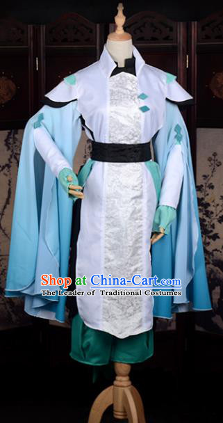 Traditional Chinese Ancient Knight-errant Costume Cosplay Swordsman Hanfu Clothing for Men