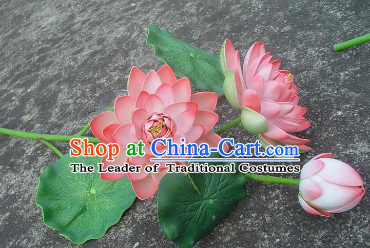 Traditional Handmade Chinese Pink Lotus Decoration Buddhist Temple Decoration