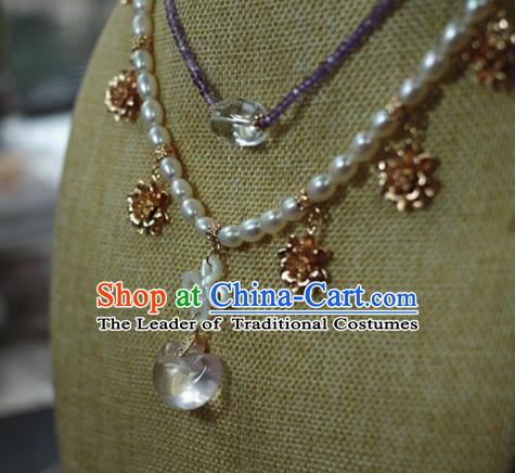 Traditional Chinese Ancient Handmade Necklace Hanfu Necklet for Women