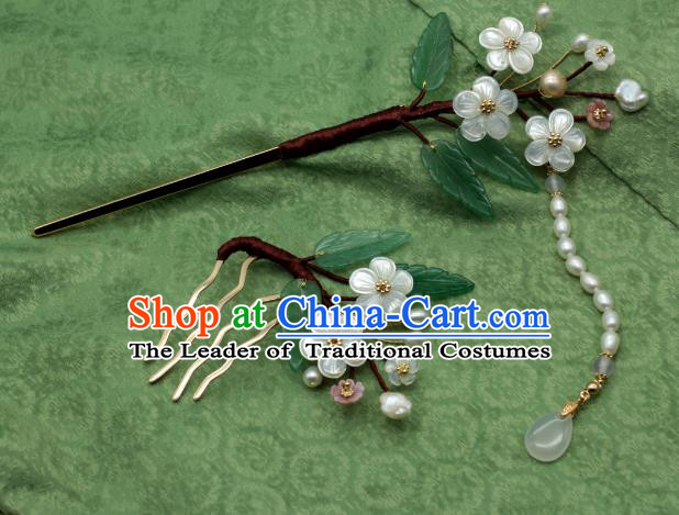 Traditional Chinese Ancient Hair Accessories Handmade Tassel Hairpins for Women