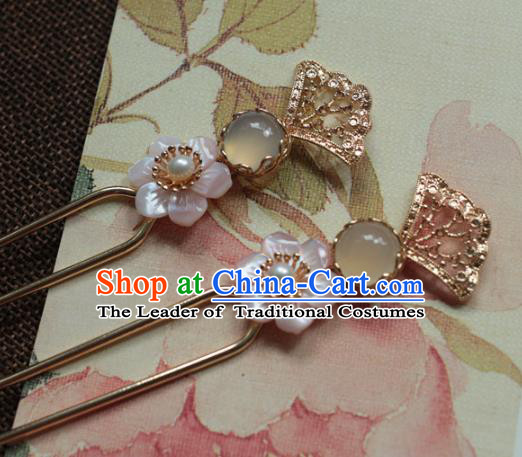Traditional Chinese Ancient Hair Clip Hair Accessories Handmade Hanfu Hairpins for Women