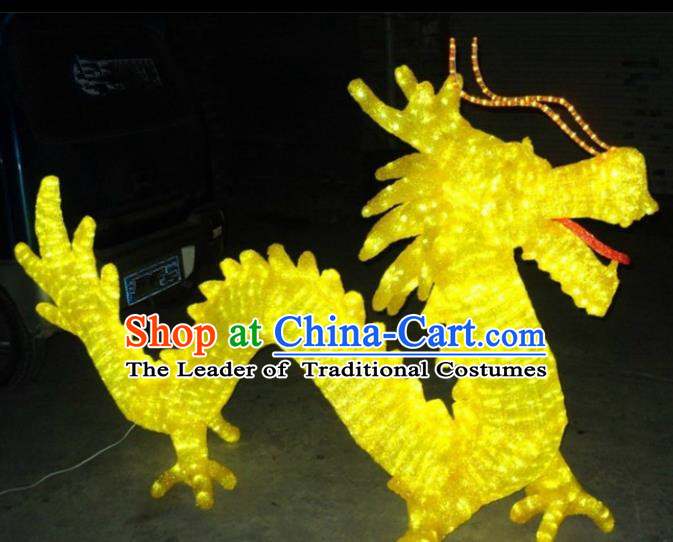 Traditional Handmade Chinese Dragon Electric LED Lights Lamps Lamp Decoration