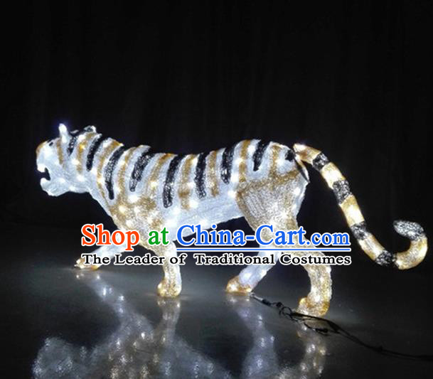 Traditional Handmade Chinese Zodiac Tiger Electric LED Lights Lamps Lamp Decoration