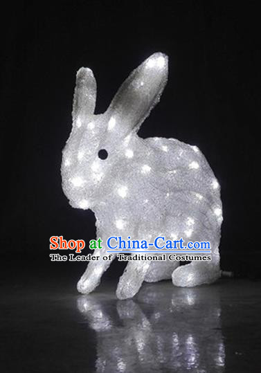 Traditional Handmade Chinese Zodiac Rabbit Electric LED Lights Lamps Lamp Decoration