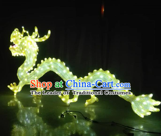 Traditional Handmade Chinese Zodiac Dragon Electric LED Lights Lamps Lamp Decoration