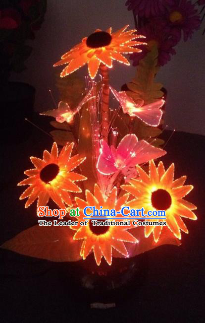 Traditional Handmade Chinese Flowers Lanterns Electric LED Lights Lamps Desk Lamp Decoration