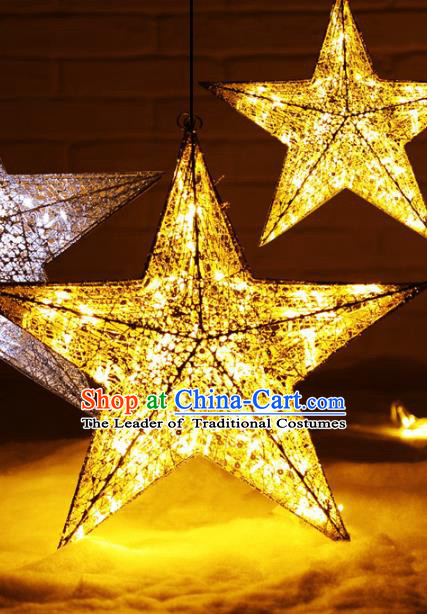 Traditional Handmade Chinese Star Lanterns Electric LED Lights Lamps Hanging Lamp Decoration