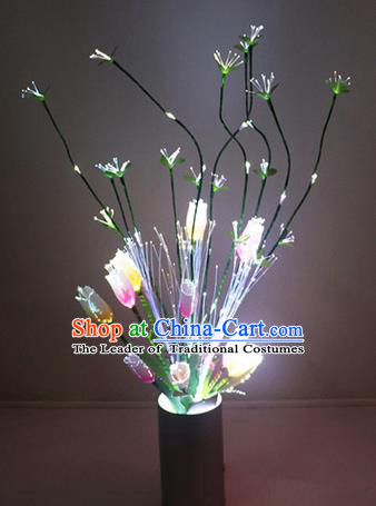 Traditional Handmade Chinese Tulip Flowers Lanterns Electric LED Lights Lamps Desk Lamp Decoration