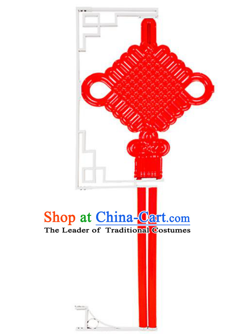 Traditional Handmade Chinese Lanterns Spring Festival Chinese Knots Electric LED Lights Street Light Lamp Decoration