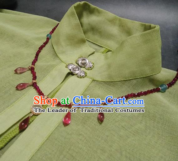 Traditional Chinese Ancient Handmade Necklace Hanfu Red Beads Necklets for Women
