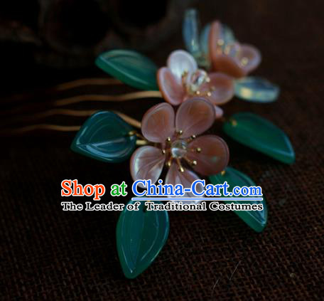 Traditional Chinese Ancient Flowers Hair Comb Hair Accessories Handmade Hanfu Hairpins for Women