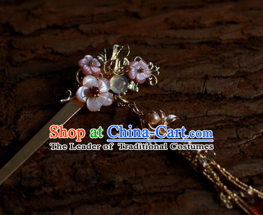 Traditional Chinese Ancient Flowers Hair Clips Hair Accessories Handmade Hanfu Hairpins for Women