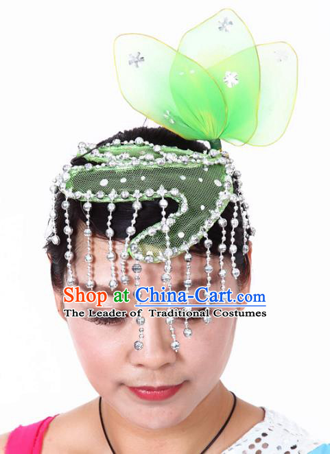 Chinese Traditional Classical Dance Hair Accessories Folk Dance Yangko Headwear for Women