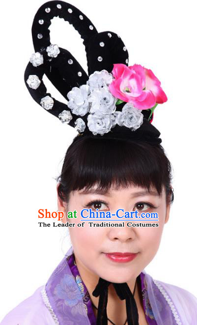 Chinese Traditional Classical Dance Hair Accessories Beijing Opera Actress Headwear for Women